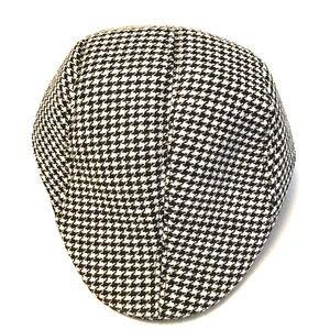 Men's Houndstooth Newsboy Hat
